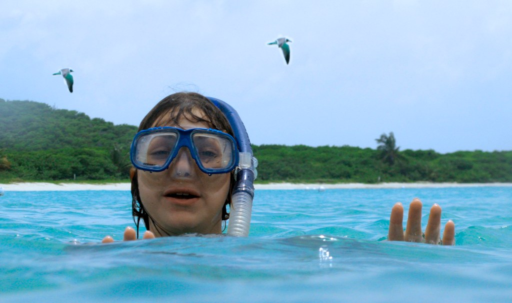 snorkeler head